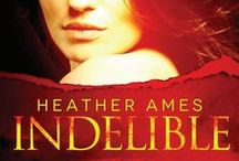 """Heather's Books / Heather Ames links her books with her boards for the """"Indelible"""" mystery/suspense series. Boards are for Miami socialite Kaylen's clothing, accessories, shoes, etc., based on locale and season. Her equally fashionable supper club has a  wide menu and an even wider full bar menu."""