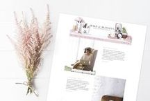 Blog Layout Inspirations. / Ideas for blog layouts, for clients. / by Make it Blissful