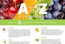 Benefits of fruits / A collection of pins for information on a variety of fruits and their benefits to us and our bodies.