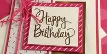 Cards & more - Birthday / Birthday card ideas using Stampin' Up! product other than Kids cards which has it's own board!