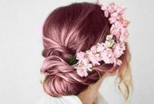 Hair / Pastel, blonde, brunette, red, braided, straight, curly. Hairstyles, hairdos and other random hair-related.