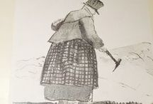 Mary Anning / Mary Anning (1799 -1847), patient and strong, was the first person to make a living by selling fossils.