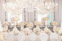 WHITE WEDDINGS / White wedding ideas, white themed wedding