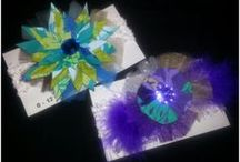 Hair Accessories (by me) / Race Track Bows, Boutique Style Bows available at www.facebook.com/NanieBows / by Crafty Nanie