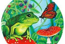 Bullfrogs And Butterflies Ƹ̵̡Ӝ̵̨̄Ʒ / Ol' tadpole in a fishin' hole He couldn't croak or jump to save his soul But then one day It's the funniest thing Why he started growin' Turnin' green Yes, he jumped up on a lily pad And he was croakin' out a song, gave it all he had... A little caterpillar on a blade of grass She noticin' the days going by so fast She's a lovely little lady She's looking for a room She's weavin' and spinnin' out a fine cocoon Why it didn't take long 'til she saw the sky Spread your wings you butterfly. ♥ / by Earth Angel