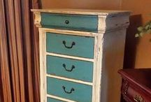 LINGERIE CHEST / Painted Lingerie Chests