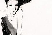 Fashion Art / Иллюстрации и арты на тему мода, стиль, роскошь, модель, дизайн