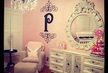 Girl Nursery ♀ / All things girly! Leopard and/or Shabby chic theme with colors Pink and Gold, Pink and Grey, or Soft Pink and Taupe. / by Mrs. VanSlyke ♚💀🎀