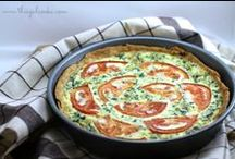 Quiche / Because our hens lay dozens of eggs a day!