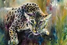Katy Jade Dobson Art / Katy Jade Dobson has taken the art world by storm with her incredible large portraits of animals full of colour and vibrancy creating a rainbow pallette that lifts your spirits and fills your life with hope, love and colour.