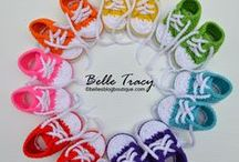 Crochet: Booties, Socks, Slippers & Shoes / If its is crocheted and for feet, you'll find it here. / by Kerry Gill