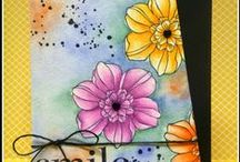 Cards / Hand stamped cards and tutorials.