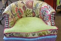 Upholstery Ideas / We can help you pick out and design custom upholstery that is beyond your wildest dreams.  Upholstery project inspiration board.