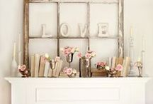 Mantel Decorating / Pictures of mantels.  Ideas for decorating your mantel.