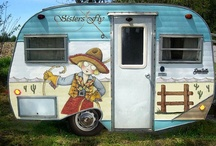 Vintage Campers/Trailers / I am thinking it would be a blast to have one of these. When the grandkids go camping grandma will take her trailer. Such a cool idea. / by Pam England