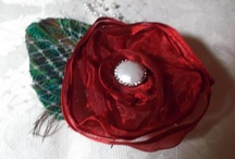 My Flowers / Here's a selection of some of the handmade flower pins, hair clips/combs & other decorations that I have created from fabric, lace, ribbon and paper. Most of the techniques that I used can be found among the 1300+ handmade flower projects & tutorials that I've collected on http://pinterest.com/artykitty/paper-fabric-flower-tutorials-more-make-your-own-b/. Feel free to share these boards with anyone who might enjoy them!  You can contact me at alleymarziacat@yahoo.com.