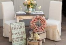 Blushes and Mints  / The new trend: mints and soft blushes to create a rustic/vintage themed wedding.