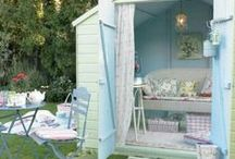 The Garden Shed / For the love of sheds. The garden shed is more than a place to store your garden tools. Create a retreat for a little 'me time'. Potting sheds have come a long way!