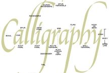 Calligraphy / Calligraphy fonts, writing, alphabet
