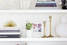 Shelf Style / For the love of shelfies. Ideas for styling bookcases and shelves that will add personality and style to your home.