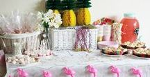 "Girl baby sprinkle ideas / Baby girls baby ""sprinkle"" Iris' pineapple and flamingo themed baby sprinkle"