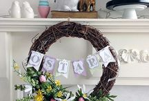 Wreaths and Door Decor / For the love of wreaths. There are stylish wreaths and door hangers for every door and every season. You'll also find wreaths and door decor on my seasonal boards, including Halloween and Christmas.