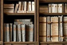 books in decor / by donna @ a perfect gray