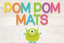 Pom Pom Learning Mats / DIY printable pom pom play mats for your little munchkins!