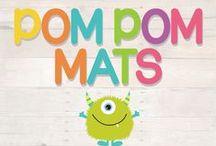 Pom Pom Learning Mats / DIY printable pom pom play mats for your little munchkins!