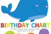 Birthday Charts / For the child educator, a place to display your class birthdays.