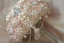 WEDDING BOUQUETS / Wedding Bouquets, Bridal Bouquet, brooch Bouquet, Jeweled Bouquet, Jewelry Bouquet, Silver Bouquet, Rustic, Vintage, gatsby, bride