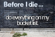 """Bucket List! / Things I want to accomplish in my lifetime...Marked with a """"Check!"""" goal is complete! / by Melissa O'Neall"""