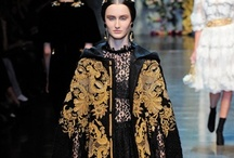 Ornamental Opulence: On Trend AW12 / Designers chose a wealth of opulent detail for their Autumn/Winter collections. Dolce and Gabbana's gold baroque designs were something to behold, as were the heavily embellished trophy-style jackets seen at Balmain. Texture play and decorative applique details were everywhere, as were Oriental motifs and bold colourful prints; especially Miu Miu's printed trouser suits, evocative of retro 70s wallpaper designs.