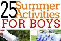 Mom of Boys Activity Ideas / Being a mom of boys, we are busy and always needing some things to do!