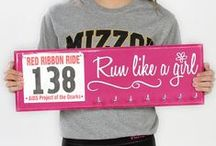 Home Decor Wall Hangings / Running Medal Displays.  Marathon Bib Hanger / by Strut Your Stuff Sign Co