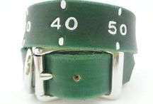 Football Team Leather Dog Collars / Leather dog collars for football fans.