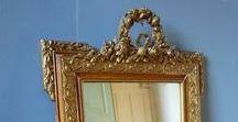 French Mirrors / http://www.dazzlevintagefurniture.com