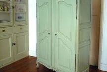 French Armoires / http://www.dazzlevintagefurniture.com