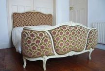 French Beds / Authentic French demi corbeille and capitone beds from France  www.dazzlevintagefurniture.co.uk