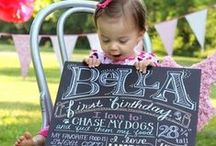 Chalkboards! / For more party inspiration and decorations, visit www.custompartyshop.com