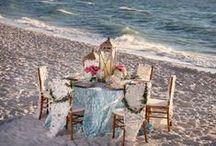 Shore Thing / Raspberry & Aqua Wedding Invitation Suite / by Abbey Malcolm Letterpress + Design