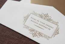 Classic Style / Ivory & Gold Wedding Invitation Suite / by Abbey Malcolm Letterpress + Design