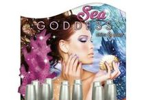 China Glaze- Sea Goddess / Discover the hidden treasures of the ocean this spring with China Glaze® Sea Goddess. Six vibrant matte and glistening glitters take you from the sandy, sunny shore to the depths of the sea where the mermaids play.