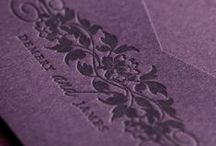 Trendy Trellis / Deep Purples & Cool Blues / by Abbey Malcolm Letterpress + Design