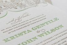 Outdoor Elegance / Botanical Wedding Invitation Suite for a Gorgeous Outdoor Wedding / by Abbey Malcolm Letterpress + Design