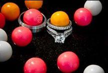 Sweet Love / Pink, Purple & Tangerine Wedding Invitation Suite / by Abbey Malcolm Letterpress + Design