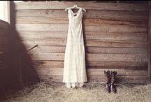 Barnyard Chic / Rustic Orange and Khaki Wedding Invitation Suite / by Abbey Malcolm Letterpress + Design