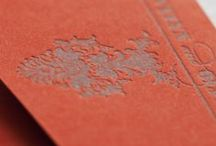 Swanky Soiree / Red-orange, slate and lime green wedding invitation suite / by Abbey Malcolm Letterpress + Design