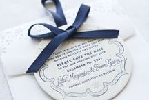 Winter Wonderland / Navy and Silver Wedding Invitation Suite / by Abbey Malcolm Letterpress + Design