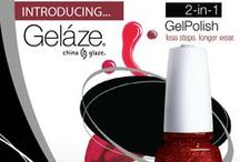 Gelaze By China Glaze  / The wait is over! From the creators of China Glaze® comes Gelaze®, a revolutionary new gel polish system that has fewer steps than the traditional gel manicure, faster cure times and superior coverage you can create at home. With Gelaze by China Glaze, 34 of your favorite China Glaze® shades are now available in long lasting gel polish.  Gelaze® is available now at Sally Beauty Supply stores nationwide.  www.Gelaze.com
